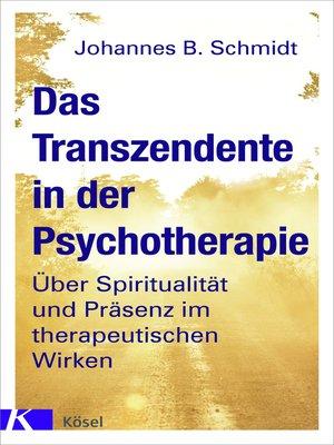 cover image of Das Transzendente in der Psychotherapie