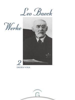 cover image of Dieses Volk
