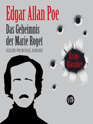 cover image of Das Geheimnis der Marie Roget