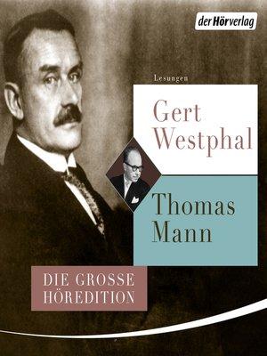 cover image of Gert Westphal liest Thomas Mann