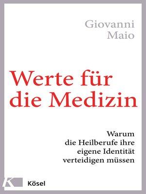 cover image of Werte für die Medizin