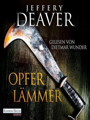 cover image of Opferlämmer