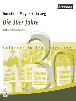 cover image of Die 30er Jahre