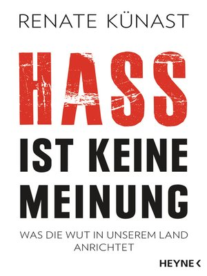 cover image of Hass ist keine Meinung