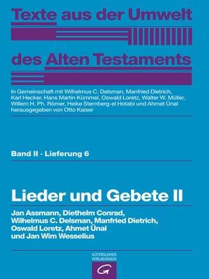 cover image of Lieder und Gebete II