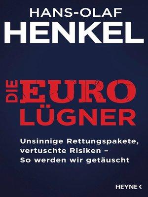 cover image of Die Euro-Lügner