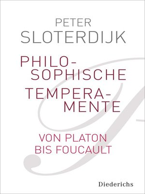 cover image of Philosophische Temperamente