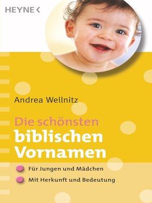 cover image of Die schönsten biblischen Vornamen