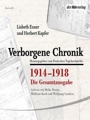 cover image of Verborgene Chronik 1914-1918