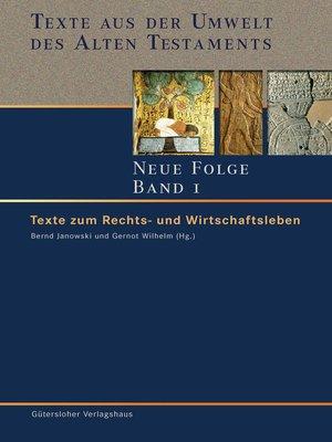 cover image of Texte zum Rechts- und Wirtschaftsleben