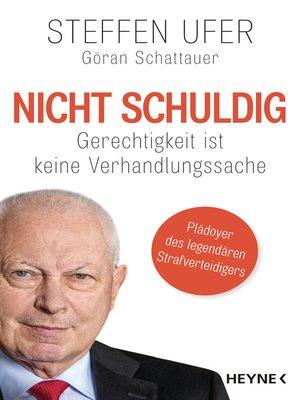 cover image of Nicht schuldig