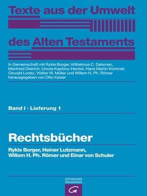 cover image of Rechtsbücher