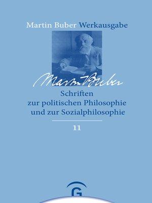 cover image of Schriften zur politischen Philosophie und zur Sozialphilosophie
