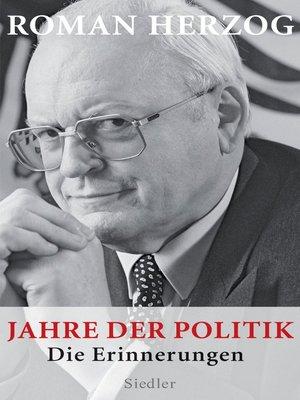 cover image of Jahre der Politik