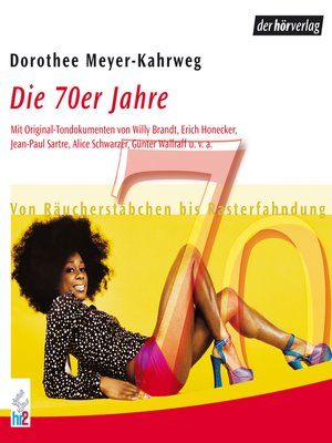 cover image of Die 70er Jahre