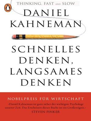 cover image of Schnelles Denken, langsames Denken