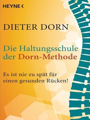 cover image of Die Haltungsschule der Dorn-Methode