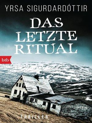 cover image of Das letzte Ritual