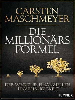 cover image of Die Millionärsformel