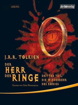 cover image of Der Herr der Ringe. Dritter Teil