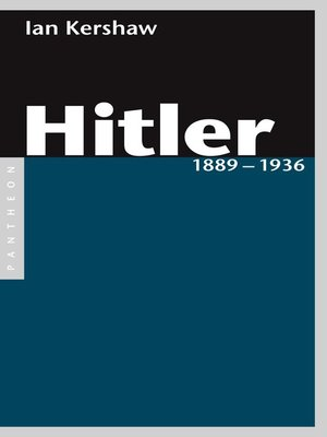 cover image of Hitler 1889 – 1936