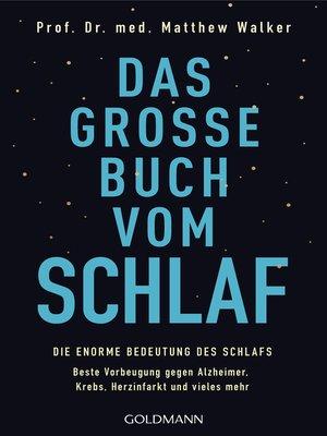 cover image of Das große Buch vom Schlaf