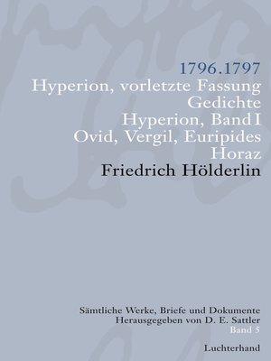 cover image of Sämtliche Werke, Briefe und Dokumente. Band 5