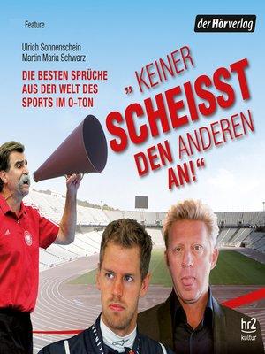"""cover image of """"Keiner scheisst den anderen an!"""""""