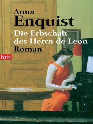 cover image of Die Erbschaft des Herrn de Leon