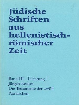 cover image of Die Testamente der zwölf Patriarchen