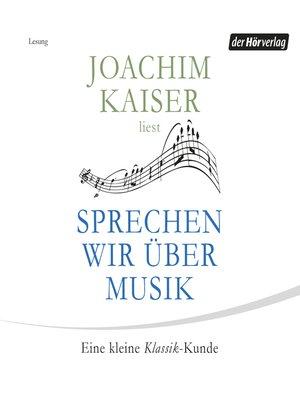 cover image of Sprechen wir über Musik