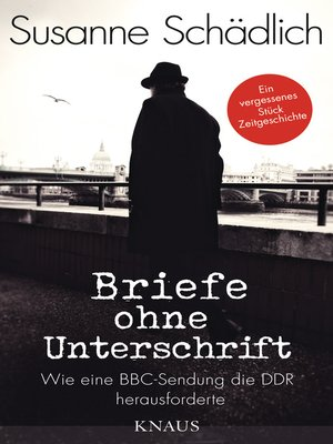 """cover image of """"Briefe ohne Unterschrift"""""""