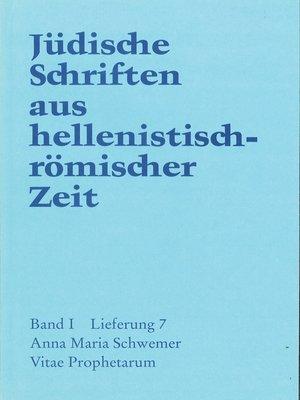 cover image of Vitae Prophetarum