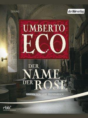 cover image of Der Name der Rose