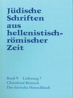 cover image of Das slavische  Henochbuch