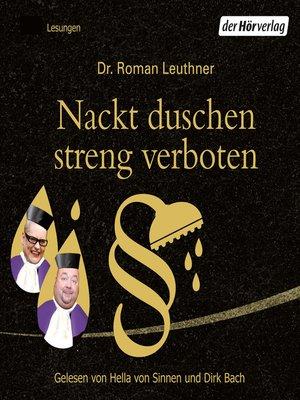cover image of Nackt duschen streng verboten