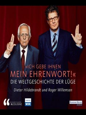 """cover image of """"Ich gebe Ihnen mein Ehrenwort"""""""