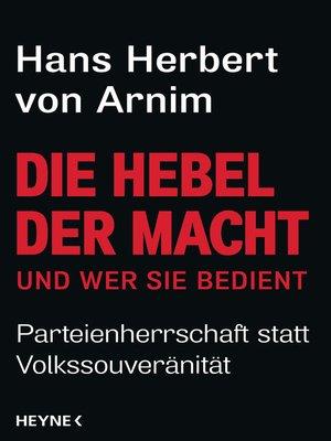 cover image of Die Hebel der Macht