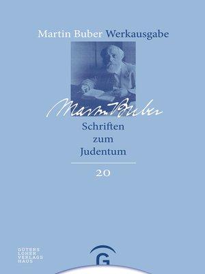 cover image of Schriften zum Judentum