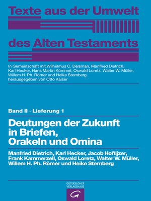 cover image of Deutungen der Zukunft in Briefen, Orakeln und Omina