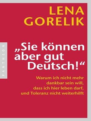 """cover image of """"Sie können aber gut Deutsch!"""""""