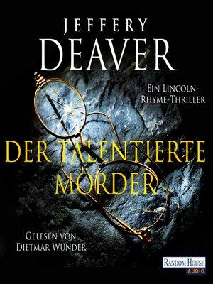 cover image of Der talentierte Mörder