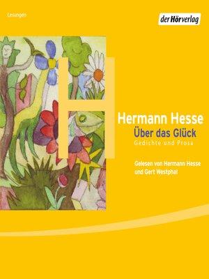 cover image of Über das Glück