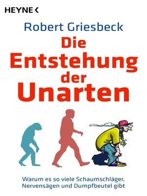 cover image of Die Entstehung der Unarten