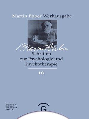 cover image of Schriften zur Psychologie und Psychotherapie