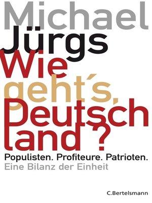 cover image of Wie geht's, Deutschland?