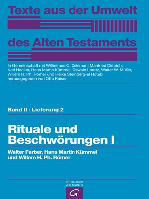 cover image of Rituale und Beschwörungen I