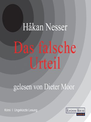 cover image of Das falsche Urteil