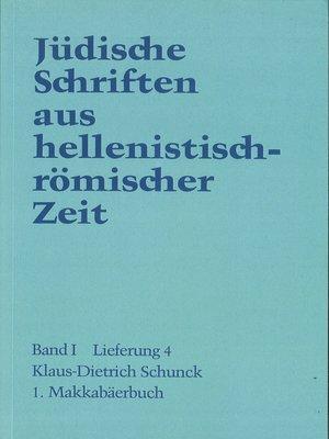 cover image of 1. Makkabäerbuch