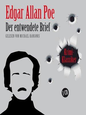 cover image of Der entwendete Brief